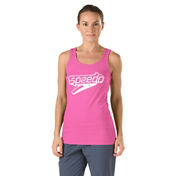 Speedo Female Front Stacked Logo Women's Graphic Tank Top