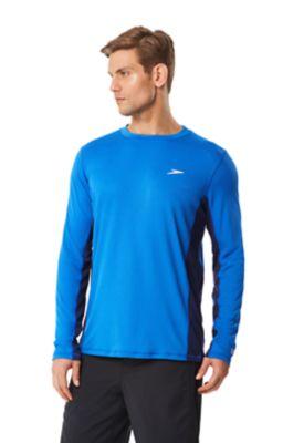 Longview Long Sleeve Rashguard Swim Tee Shirt Speedo Men/'s and Women/'s Swimwear 7482207 Speedo Mens UPF 50