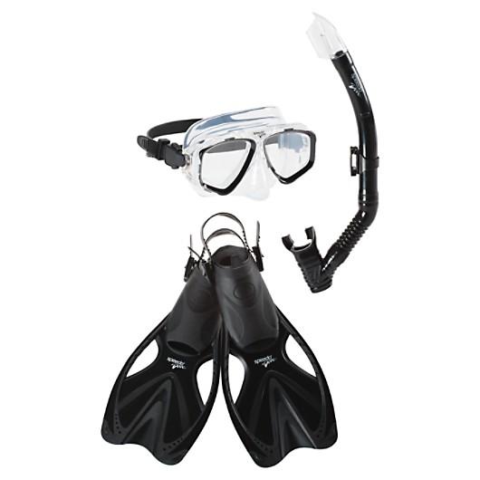Adult Snorkel Set With Mask Fins Speedo Usa