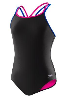 """32/"""" 12-14 years Black 30/"""" 10-12 years Speedo Girls Womens Elate Swimsuit Pink"""