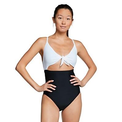 Speedo Tie Front One Piece Women's Recreational Swimsuit