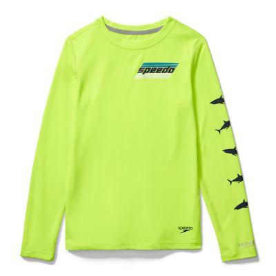 Speedo  Long Sleeve Graphic Swim Shirt    : Safety Yellow