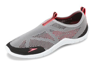 Speedo USA  Unisex Women's Surf Knit Water Shoes  : Light Slate Gray: Get the most out of your aquatic footwear with the high-performing Surf Knit water shoe. Its advanced technology results in a lightweight  breathable upper that provides maximum ventilation and comfort. A hydrophobic insole enables the versatile style to absorb less water and dry faster  while a water-draining outsole ensures you have traction to walk around the deck safely.